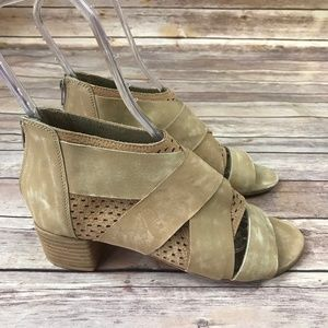 New Free People Tan Suede Leather Strappy Sandals